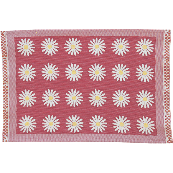 Table mat Daisy Red
