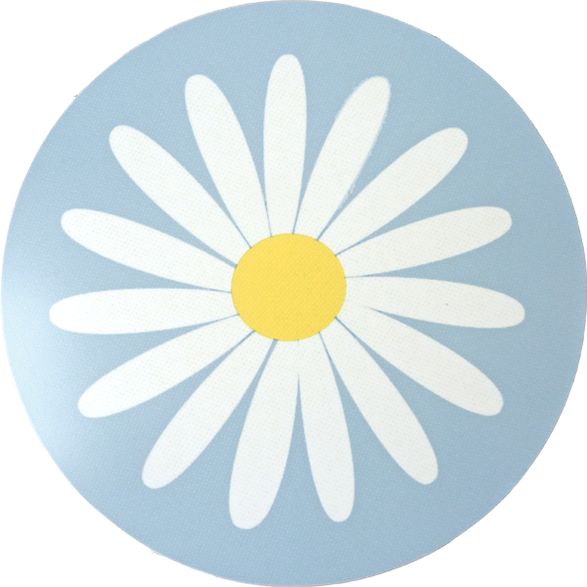 Pot Mat Daisy Light-blue