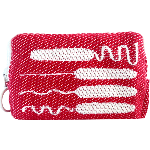 Toilet bag 8cm Tampon Red