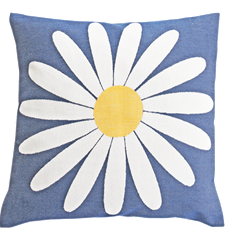 Cushion cover 45x45 Daisy Blue