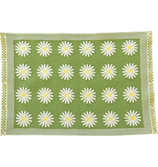 Table mat Daisy Green