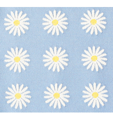 Fabric 145cm Daisy Small Light-blue