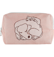 Toilet bag 18cm Dogs Pink