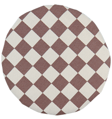 Seat cushion Checkered Brown