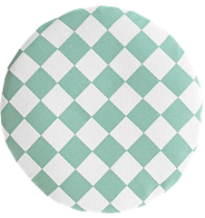 Seat cushion Checkered Turquois