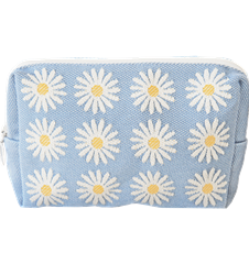 Toilet bag 18cm Daisy Light-blue