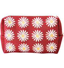 Toilet bag 18cm Daisy Red