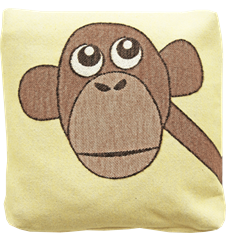 Cushion 30 cm Monkey Yellow