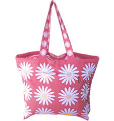 Beach bag Daisy Dark pink