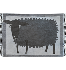 Table mat Sheep Black