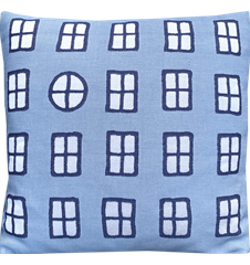Cushion cover 45x45 Windows Blue