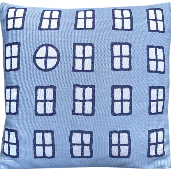 Cushion cover 45 cm Windows Blue
