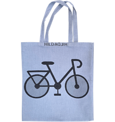 Tote bag Small Bicycle Blue