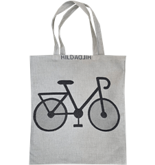 Tote bag Small Bicycle Grå