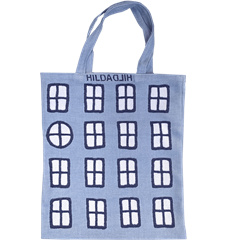 Tote bag Small Windows Light-blue