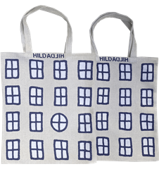 Tote bag Small Windows White