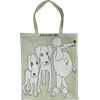 Tote bag Small Dogs Green