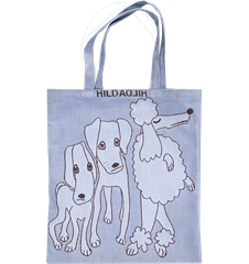 Tote bag Small Dogs Blue