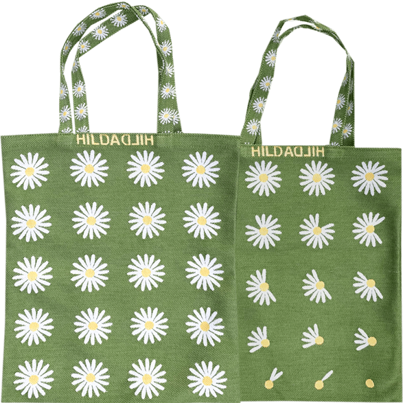 Tote bag Small Daisy Green