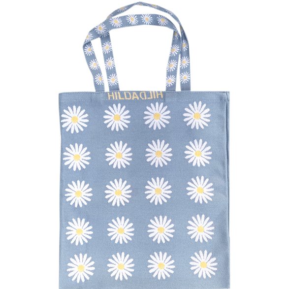 Tote bag Small Daisy Light-blue