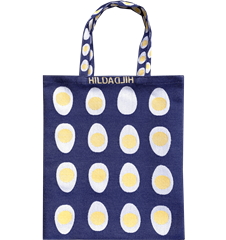 Tote bag Small Egg Blue