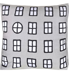 Cushion cover 45 cm Windows Grey