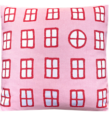 Cushion cover 45x45 Windows Pink Red