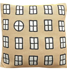 Cushion cover 45 cm Windows Yellow