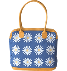 Handbag Daisy Blue