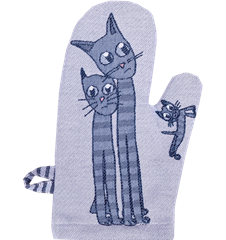Oven glove Cat Blue