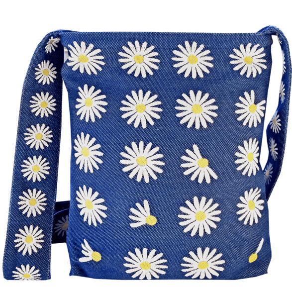 Messenger bag Daisy Blue