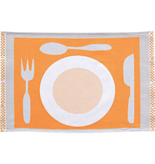 Table mat Plate Orange
