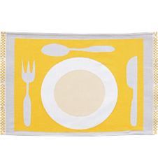 Set de Table Assiette Jaune