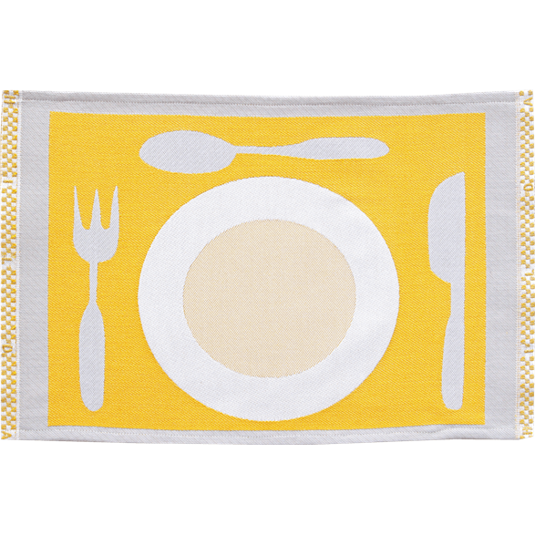 Table mat Plate Yellow