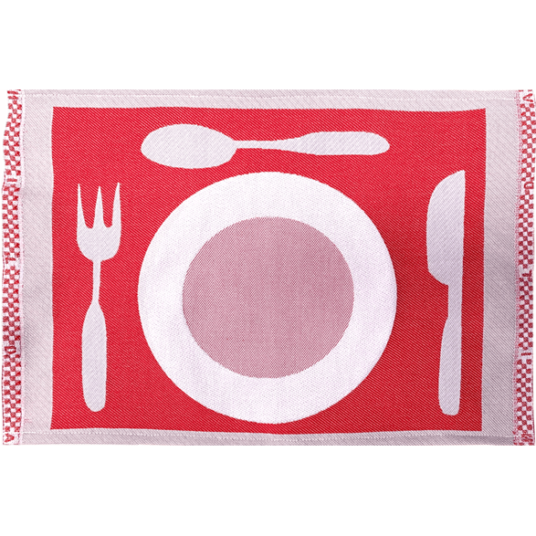 Table mat Plate Red