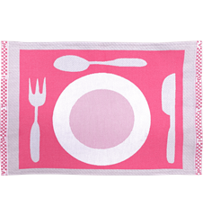 Table mat Plate Pink