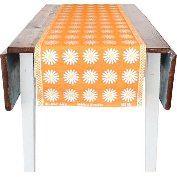 Chemin de table 35x150cm Marguerite Orange