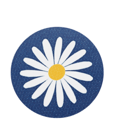 Coaster Daisy Blue