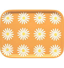Petit Plateau Marguerites Orange