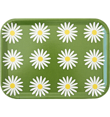 Tray Small Daisy Green