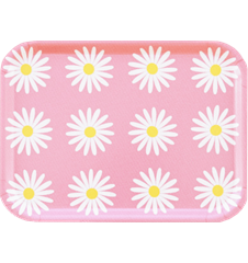 Tray Small Daisy Pink