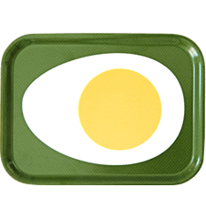 Tray Small Egg Green