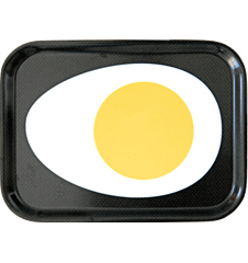Tray Small Egg Black