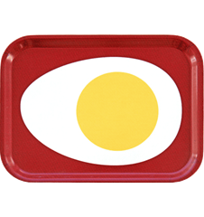 Tray Small Egg Red