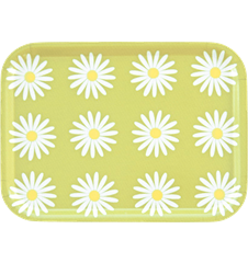 Tray Small Daisy Lime