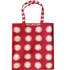 Petit Tote Bag Marguerites Rouge