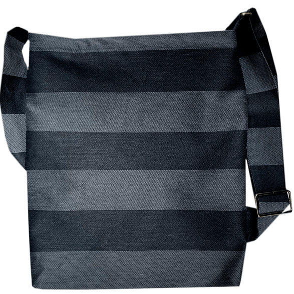Messenger bag Stripe Black/Dark-Grey