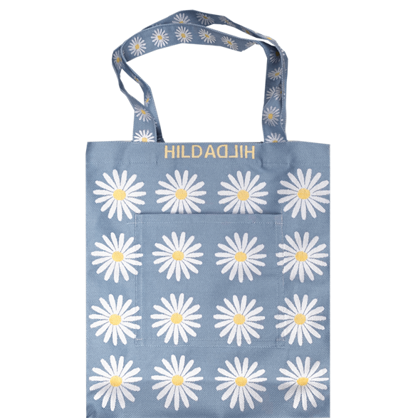 Tote bag Large Daisy Light Blue