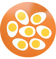 Pot Mat Eggs Orange