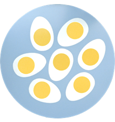 Pot Mat Eggs Light-blue